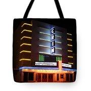 Nightime Shot Of Kilgore Crim Theater Tote Bag