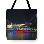Nightlife At Clarke Quay Singapore Tote Bag