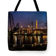 Nightlife In The Flats Tote Bag