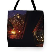 Nighttime Driving With City Lights Tote Bag