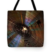 Nighttime Spider Web Tote Bag