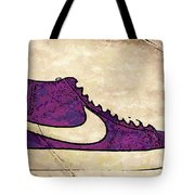 Nike Blazers Purple Tote Bag by Alfie Borg