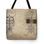 Nikola Tesla's Electrical Generator Patent 1894 Tote Bag