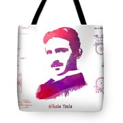 Nikola Tesla Patent Art Apparatus For Aerial Transportation  Tote Bag
