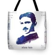 Nikola Tesla Patent Art Electric Arc Lamp Tote Bag
