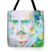 Nikola Tesla Watercolor Portrait Tote Bag