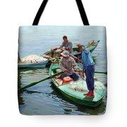 Nile River Fishermen  Tote Bag