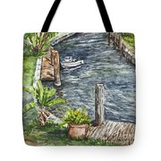 Ninas Back Yard Tote Bag