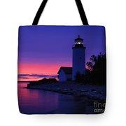 Nine Mile Point Light - Fm000022a Tote Bag