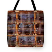 Nine Orange Lobster Traps Tote Bag by Stuart Litoff
