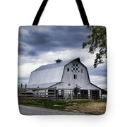 Nine Patch Quilt Barn Tote Bag