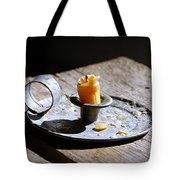 Nineteenth Century Candle And Holder Tote Bag