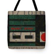Nintendo Controller Vintage Video Game License Plate Art Tote Bag