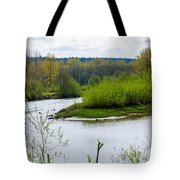 Nisqually River From The Nisqually National Wildlife Refuge Tote Bag