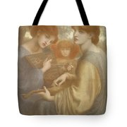 No. 1011 Study For The Bower Meadow Tote Bag by Dante Gabriel Charles Rossetti