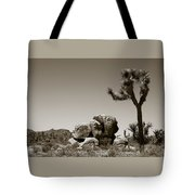 Joshua Tree National Park Landscape No 4 In Sepia  Tote Bag