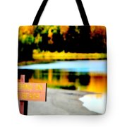 No Fishing On Swim Beach I Tote Bag