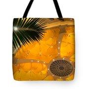 Sunshine Yellow Silk Decor With Stars Tote Bag