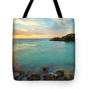 No Name Harbor Sunset Tote Bag by Eyzen M Kim