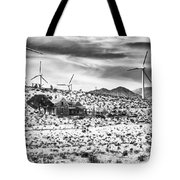 No Place Like Home Bw Palm Springs Desert Hot Springs Tote Bag