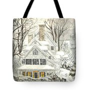 No Place Like Home For The Holidays Tote Bag by Carol Wisniewski