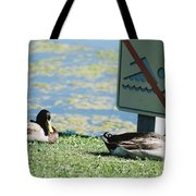 No Swimming Tote Bag
