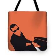 No003 My Ray Charles Minimal Music Poster Tote Bag