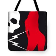 No018 My Death Proof Minimal Movie Poster Tote Bag