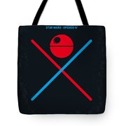 No080 My Star Wars Iv Movie Poster Tote Bag by Chungkong Art
