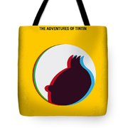 No096 My Tintin-3d Minimal Movie Poster Tote Bag by Chungkong Art