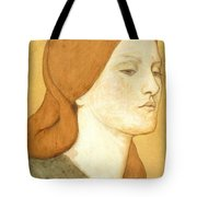 No.1575 Head Of A Girl In A Green Dress Tote Bag