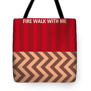 No169 My Fire Walk With Me Minimal Movie Poster Tote Bag