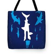 No216 My Sharknado Minimal Movie Poster Tote Bag
