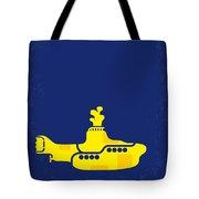 No257 My Yellow Submarine Minimal Movie Poster Tote Bag