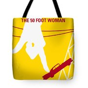 No276 My Attack Of The 50 Foot Woman Minimal Movie Poster Tote Bag