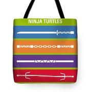 No346 My Teenage Mutant Ninja Turtles Minimal Movie Poster Tote Bag