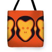 No355 My 12 Monkeys Minimal Movie Poster Tote Bag