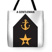 No388 My An Officer And A Gentleman Minimal Movie Poster Tote Bag by Chungkong Art