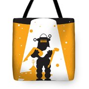 No415 My Forbidden Planet Minimal Movie Poster Tote Bag