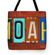 Noah License Plate Name Sign Fun Kid Room Decor. Tote Bag