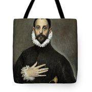 Nobleman With His Hand On His Chest Tote Bag