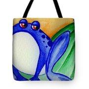 Nonchalant Frog Tote Bag