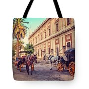 Noon At Cathedral Square. Seville Tote Bag