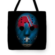 Nordiques Jersey Mask Tote Bag