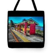 Norm Laknes Train Station Tote Bag