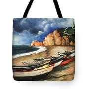 Normandy Coast - Landscape Oil Tote Bag