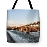 Norristown Dam And Railroad Bridge Tote Bag
