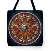 Norse Aegishjalmur Shield Tote Bag by Richard Barnes