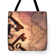 North America And Old Keys Tote Bag