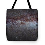 North America Nebula The Milky Way From Cygnus To Perseus And Andromeda Galaxy Tote Bag